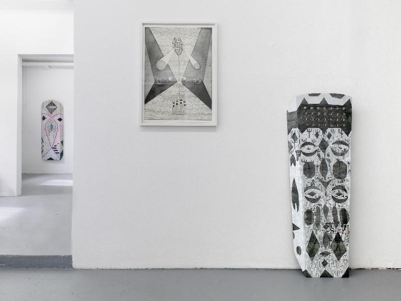 View of the exhibition / interf  ce(s) /, Tales of Babel, Studiogalerie, Haus am Lützowplatz, Berlin Curated by Lucile Bouvard Works by Zora Mann _ Courtesy the artist & ChertLüdde, Berlin Photo : Roman März