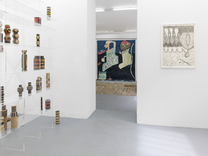 View of the exhibition / interf  ce(s) /, Tales of Babel, Studiogalerie, Haus am Lützowplatz, Berlin Curated by Lucile Bouvard Photo : Roman März