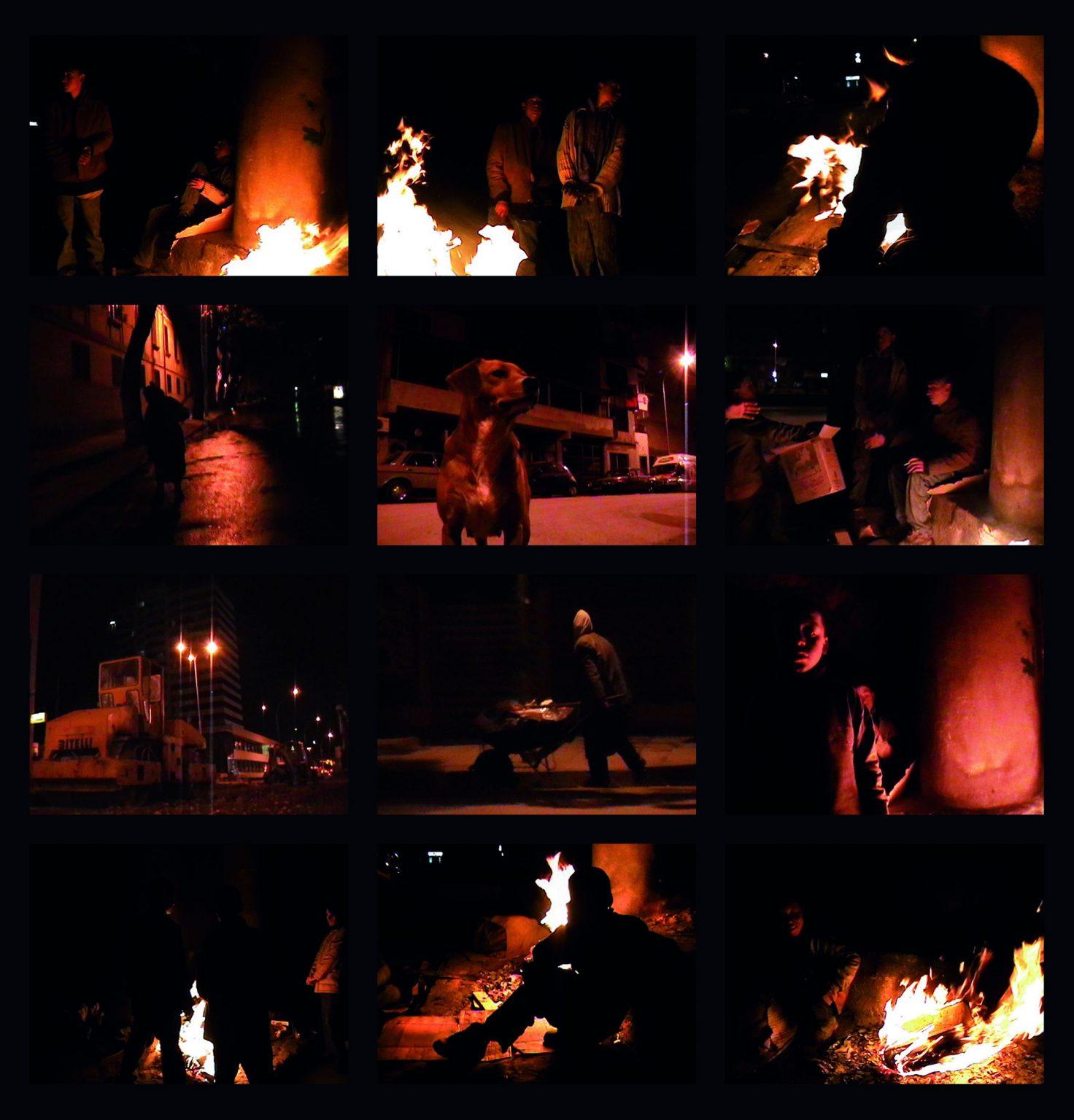 Dritan Mesareja, nachts, Leuchtkasten, 76 x 90 x 15 cm
