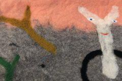 Verena Issel, Filzokratie II, 2021, gefilzte Wolle, 40 x 55 cm. Foto: T. Wheeler
