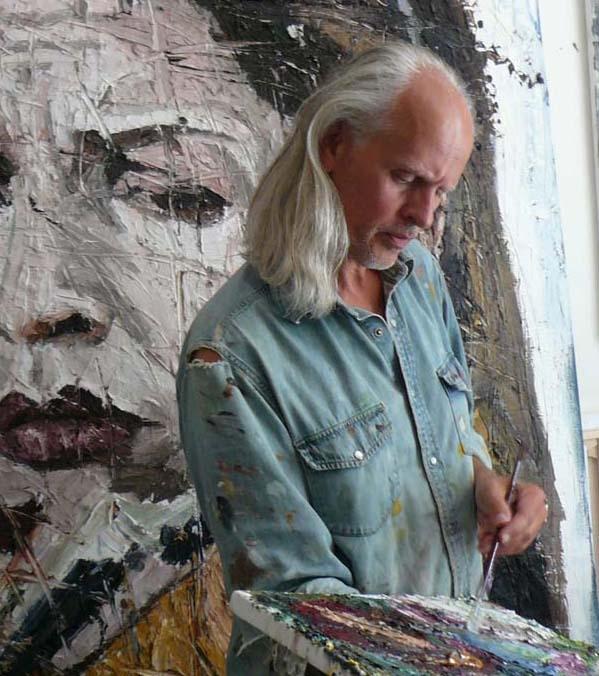 Oliver Jordan im Atelier in Köln