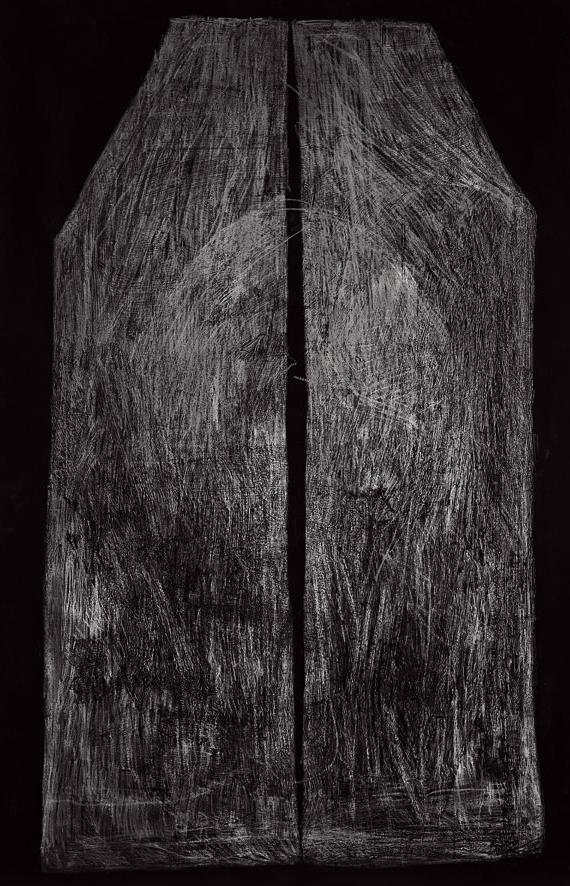 Untitled, Beirut 2005, 150 x 230cm, Graphite _ Pigment on Paper-Ausschnitt