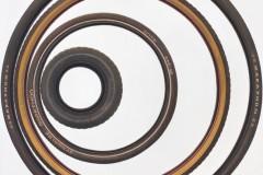 René Wirths, Reifen, 2016, Öl auf Leinwand, 190 x 190 cm