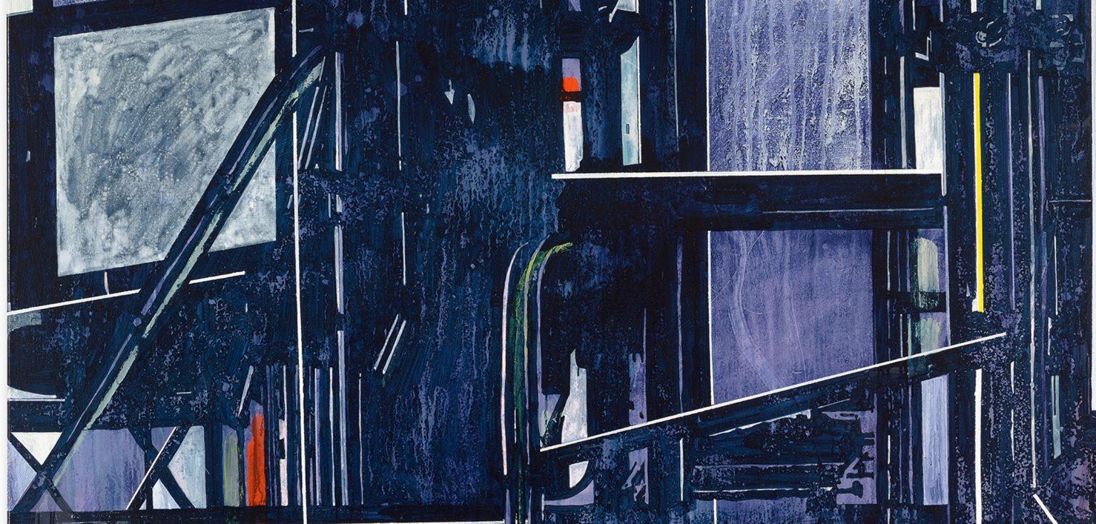 Jan Muche, OT –  2016 – 210 x 170cm – Acryl,Tusche und Bootslack auf Leinwand