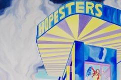 Anna Meyer, Hopesters, 2020, Öl auf Leinwand, 160 x 130 cm (Detail)
